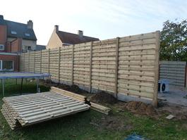 Plaatsen van een houten afsluiten