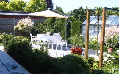 Klein terras in de tuin