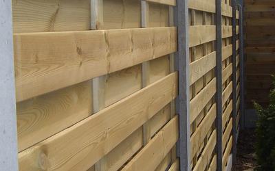 Close-up houten afsluiting